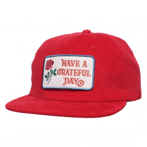 GOWEST ( ゴーウエスト ) キャップ GRATEFUL DAY CORDUROY CAP ( RED ) GWG4002HGD