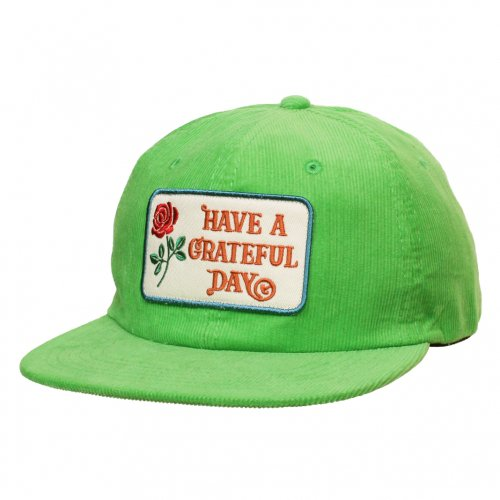 GOWEST ( ゴーウエスト ) キャップ GRATEFUL DAY CORDUROY CAP ( KELLY GREEN ) GWG4002HGD