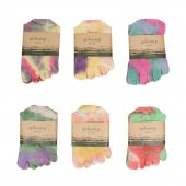 GOHEMP(ゴーヘンプ) FIVE FINGERS TYE DYE SOCKS (MIX1)