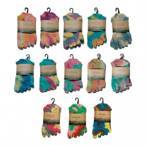 GOHEMP(ゴーヘンプ) FIVE FINGERS TYE DYE SOCKS (MIX2)