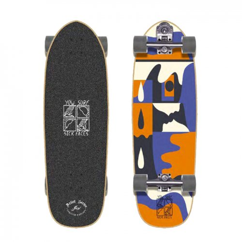 YOW SURF SKATE ( ヤウサーフスケート ) 限定モデル SICK FACES 32