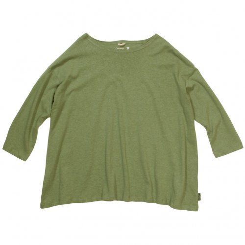GOHEMP ( ゴーヘンプ ) LADY'S SUNNY WIDE TEE ( LIME GREEN ) GHC4287RG