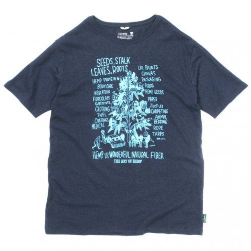 "GOHEMP ( ゴーヘンプ ) Tシャツ MEN'S ""HEMP TREE"" BASIC S/SL TEE ( MARINE NAVY ) GHC4200HTR"