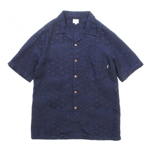 GOHEMP ( ゴーヘンプ ) 半袖シャツ MEN'S OPEN MIND SHIRTS ( INDIGO ) GHS3066CPJ