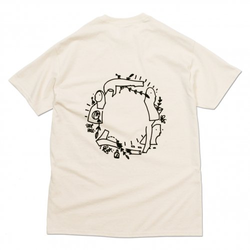 LOOPHOLE ( ループホール ) Tシャツ GLEN FOX GRAPHIC TEE ( NATURAL )