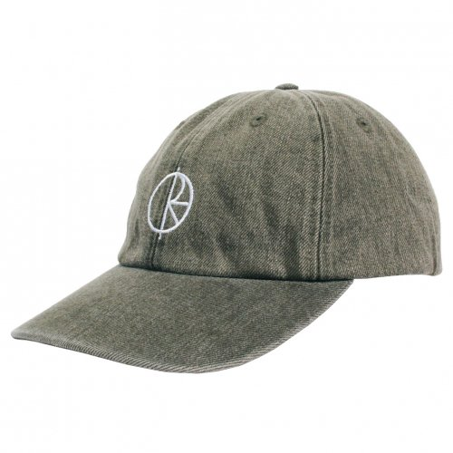 POLAR SKATE CO. ( ポーラー ) キャップ DENIM CAP ( ARMY GREEN )