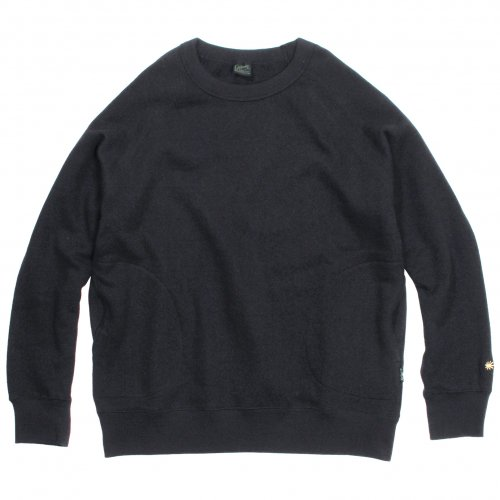 GOHEMP ( ゴーヘンプ ) クルーネック MEN'S CREW PK SWEAT ( BLACK ) GHC4421BS19
