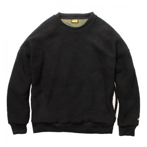 GOHEMP ( ゴーヘンプ ) MEN'S WILD BOA CREW ( BLACK ) GHJ5055BAK