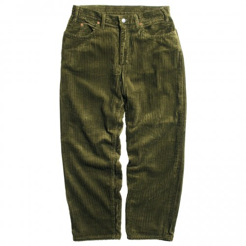 GOWEST ( ゴーウエスト ) パンツ MEN'S LOOSE TAPERED PANTS / HIGH & LOW AIR CORDUROY ( HERB GREEN ) GWP1128OCA