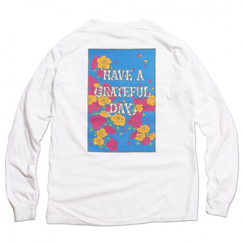 GOWEST ( ゴーウエスト ) ロンTEE GRATEFUL DAY L/SL T-SHIRTS ROSE ( WHITE ) GWC1006HGD
