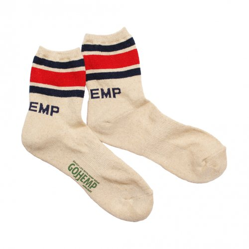 GOHEMP ( ゴーヘンプ ) × ANONYMOUSISM ソックス LOGO PILE QUARTER SOCKS ( RED ) GHG0040GLL
