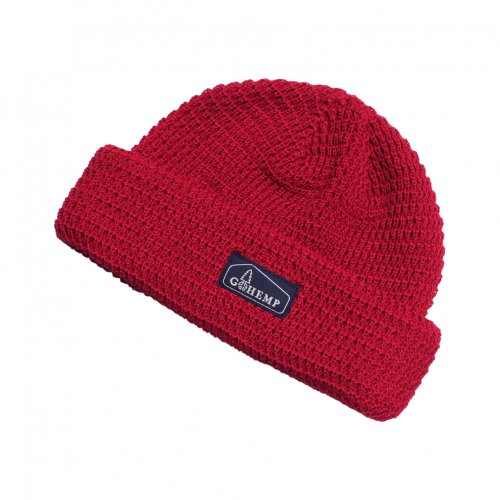 GOHEMP ( ゴーヘンプ ) ニットキャップ HEMP × ORGANIC COTTON WATCH CAP ( RED ) GHG0001HOW