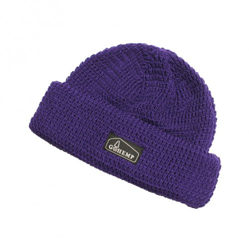 GOHEMP ( ゴーヘンプ ) ニットキャップ HEMP × ORGANIC COTTON WATCH CAP ( PURPLE ) GHG0001HOW