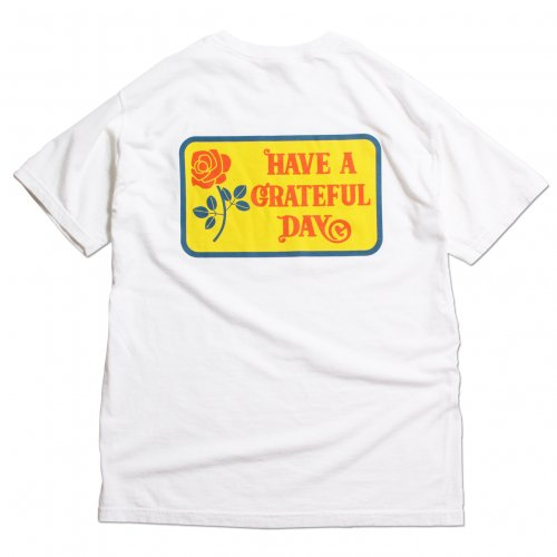GOWEST ( ゴーウエスト ) Tシャツ GRATEFUL DAY T-SHIRTS LOGO ( WHITE ) GWC1010HGD