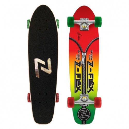 "Z-FLEX ( ジーフレックス ) クルーザースケートボード 29インチ JAY ADAMS ""ZIPPER HEAD"" RASTA"