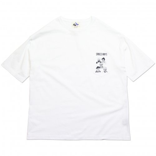 DEVADURGA ( デヴァドゥルガ ) Tシャツ SPICE BOYS BIG PK TEE ( WHITE ) dg-1180