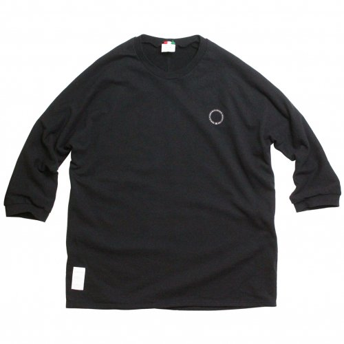 LIBE ( ライブ ) × REMILLA ( レミーラ ) スウェット L&R HALF SLEEVE SWEAT ( BLACK ) 20S01