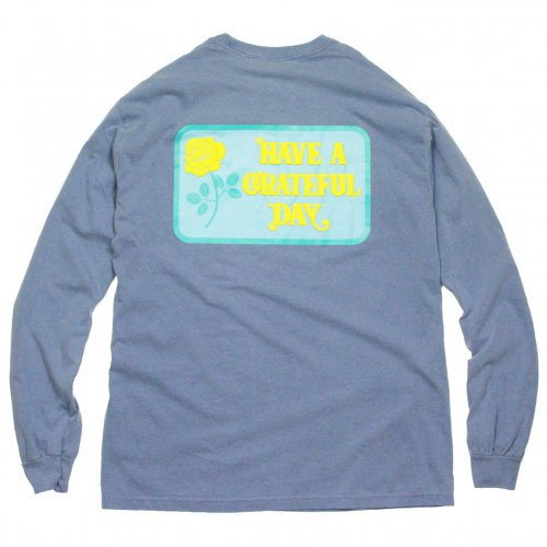 GOWEST ( ゴーウエスト ) ロンTEE LONG SLEEVE T-SHIRTS / BOX LOGO ( BLUE ) GWC1018HGD