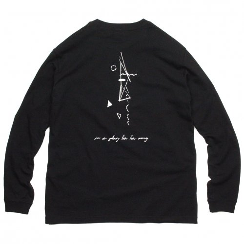 AREth ( アース ) ロンTEE GALAXY L/S TEE Designed by Nao Harada ( BLACK )
