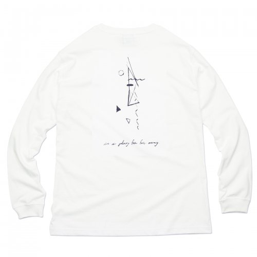 AREth ( アース ) ロンTEE GALAXY L/S TEE Designed by Nao Harada ( WHITE )