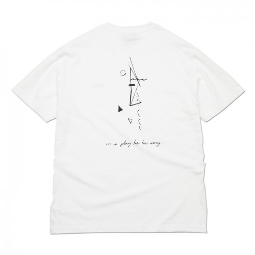 AREth ( アース ) Tシャツ GALAXY S/S TEE Designed by Nao Harada ( WHITE )