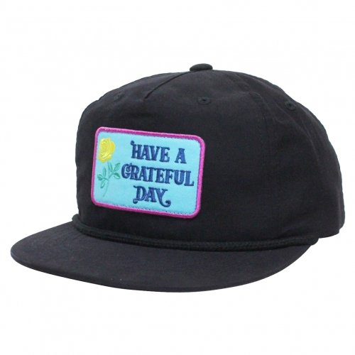 GOWEST ( ゴーウエスト ) キャップ GRATEFUL DAY CAP / BOX LOGO  ( BLACK ) GWG4012HGD