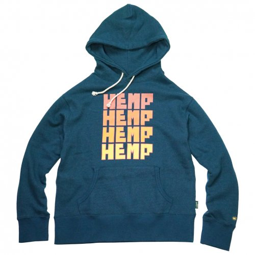GOHEMP ( ゴーヘンプ ) プルオーバーパーカー FOR HEMP HOODY ( PEACOCK BLUE ) GHC4465NKW