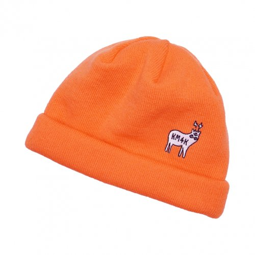 KM4K ( カモシカ ) ビーニー TEAM MANAGER BEANIE 6 ( ORANGE )