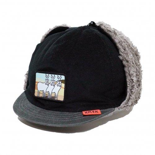 KM4K ( カモシカ ) キャップ CAP 7 ( BLACK/GRAY )