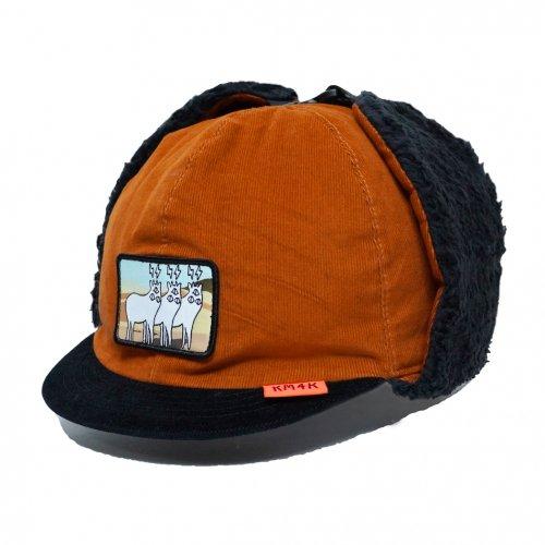KM4K ( カモシカ ) キャップ CAP 7 ( ORANGE/BLACK )