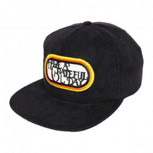 HAVE A GRATEFUL DAY ( ハブアグレイトフルデイ ) キャップ GRATEFUL DAY CORDUROY CAP / SF LOGO  ( BLACK ) GWG4016HGD