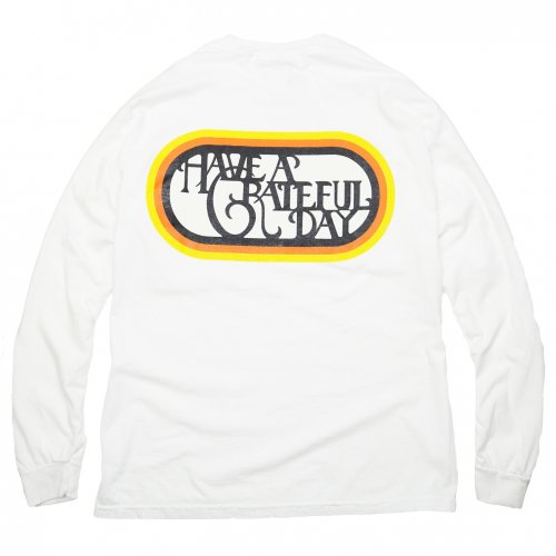 HAVE A GRATEFUL DAY ( ハブアグレイトフルデイ ) ロンTEE LONG SLEEVE T-SHIRTS / SF LOGO ( WHITE ) GWC1022HGD2