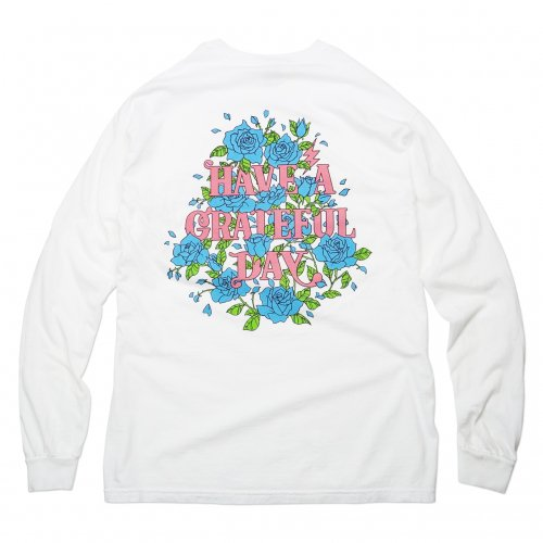 HAVE A GRATEFUL DAY ( ハブアグレイトフルデイ ) ロンTEE LONG SLEEVE T-SHIRTS / ROSE ( BLUE ) GWC1003HGD