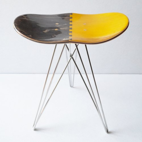 CORE ( コア ) STOOL ( BROWN × YELLOW )