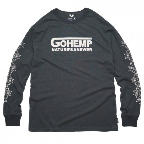 GOHEMP ( ゴーヘンプ ) ロンTEE NATURE'S ANSWER LONG SLEEVE TEE ( GUNMETAL GRAY ) GHC4294VNP