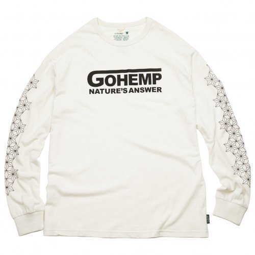 GOHEMP ( ゴーヘンプ ) ロンTEE NATURE'S ANSWER LONG SLEEVE TEE ( NATURAL ) GHC4294VNP