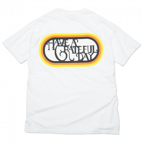 HAVE A GRATEFUL DAY ( ハブアグレイトフルデイ ) Tシャツ GRATEFUL DAY T-SHIRTS / SF LOGO ( WHITE ) GDC0010
