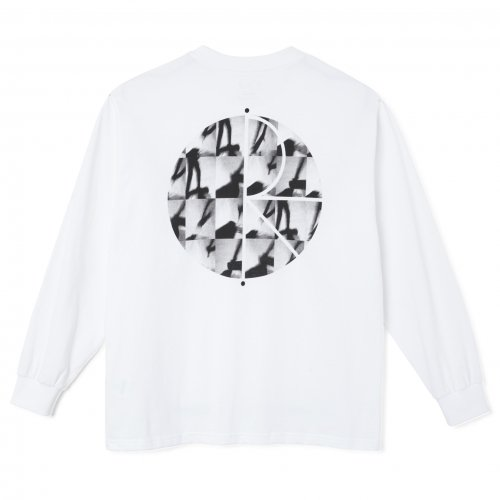 POLAR SKATE CO. ( ポーラー ) ロンTEE SEQUENCE FILL LOGO LONGSLEEVE ( WHITE )