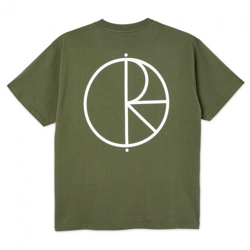 POLAR SKATE CO. ( ポーラー ) Tシャツ STROKE LOGO TEE ( UNIFORM GREEN )