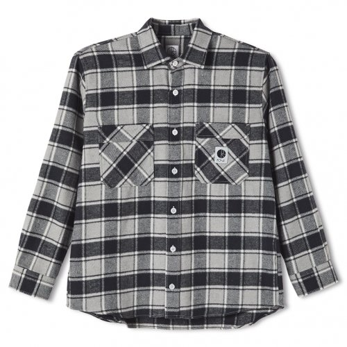 POLAR SKATE CO. ( ポーラー ) シャツ FLANNEL SHIRT ( BLACK ) SP21