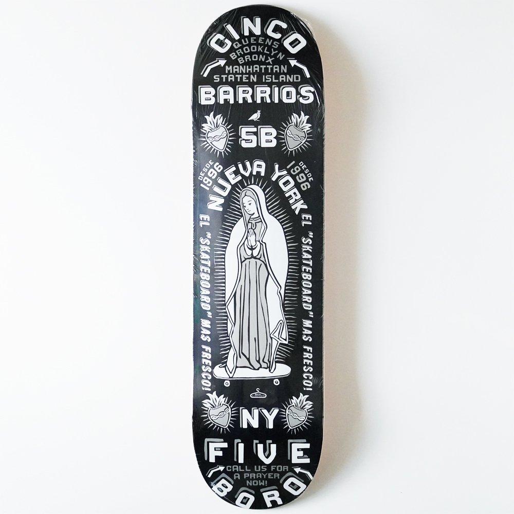 5BORO ( ファイブボロ ) デッキ CINCO BARRIOS BLACK ( 8.25 )