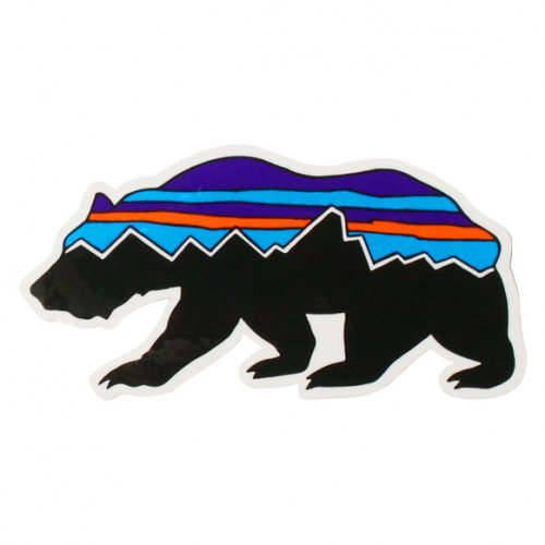 PATAGONIA ( パタゴニア ) ステッカー FITZ ROY BEAR STICKER (STK05)