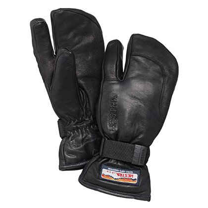 HESTRA ( ヘストラ ) 19-20 3-FINGER FULL LEATHER ( BLACK )