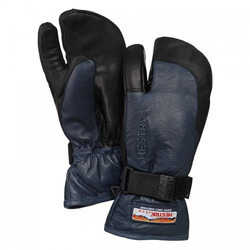 HESTRA ( ヘストラ ) 19-20 3-FINGER GTX FULL LEATHER (NAVY/BLACK)