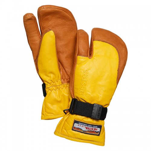 HESTRA ( ヘストラ ) 19-20 3-FINGER FULL LEATHER (YELLOW/CORK)