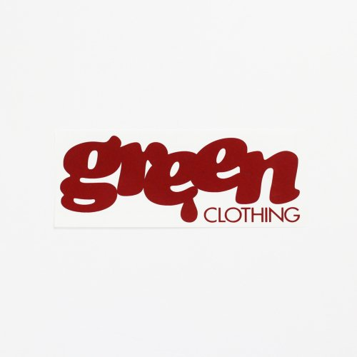 GREENCLOTHING ( グリーンクロージング ) LOGO ダイカット ステッカー (SMALL)