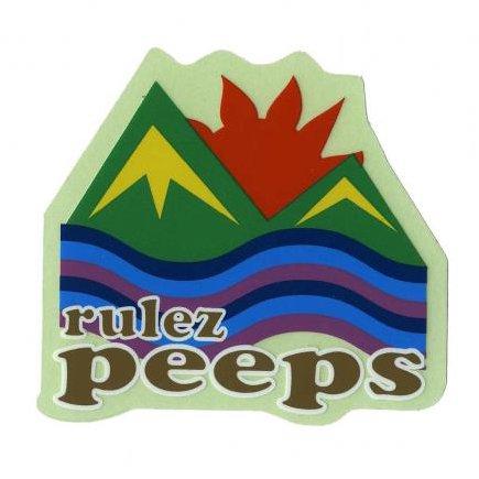 RULEZPEEPS ( ルールズピープス ) ロゴステッカー (サイズL)