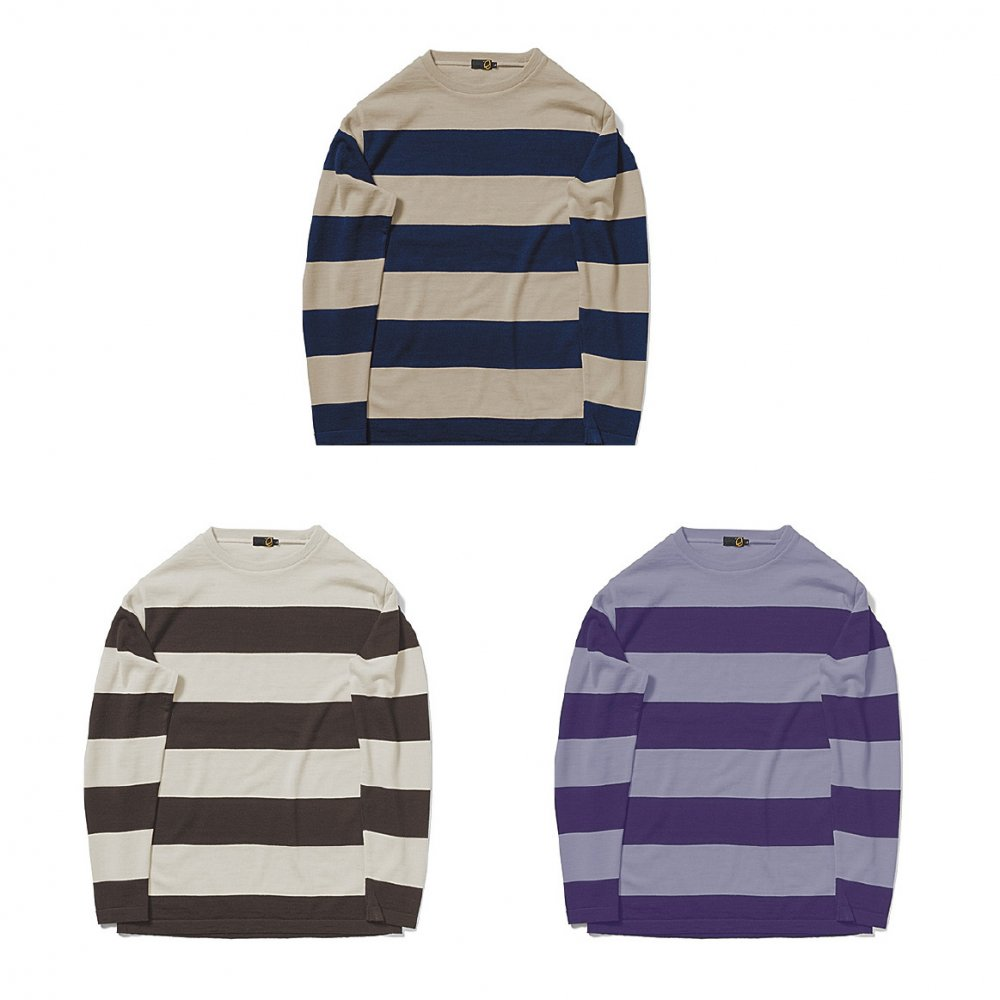 GREENCLOTHING ( グリーンクロージング ) 19-20 WOOL LAYER ( BUFF×NAVY )