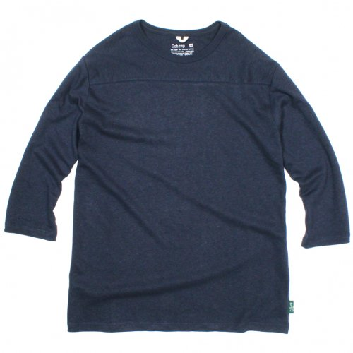 GOHEMP (ゴーヘンプ) BASIC MEN'S FOOTBALL TEE (MARINE NAVY) GHC4202RG17