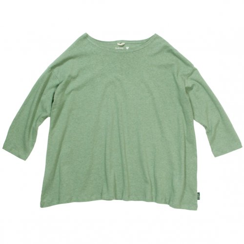GOHEMP ( ゴーヘンプ ) LADY'S SUNNY WIDE TEE ( KALE GREEN ) GHC4287RG